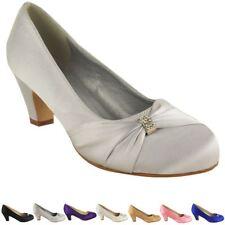 Pink No Doubt Wedding Shoes Ladies Low Mid HEELS Bridal Bridesmaid Party Size 6