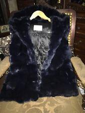 yves salomon parka hoodie fur sleeveless Jacket Made In France