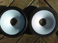 """JBL  2213 D123 D128 RECONE 12"""" Speaker White Cone!  12/3"""" """"AquaPlax""""  PMR"""
