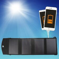 14W 4-Foldable Dual USB Solar Panel Battery Charger for Laptop PC Phone F5