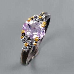 Fashion women Art Amethyst Ring Silver 925 Sterling  Size 7 /R177591