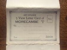 Set 5 View Colour Photographs Postcard Lettercard Morecambe Lancashire No 2