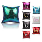 Magic Reversible Mermaid Sequin Cushion Cover Square Glitter Throw Pillow Case