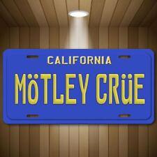 Motley Crue California License Plate