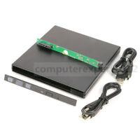 USB 2.0 External Case Enclosure For 9.5mm SATA Laptop DVD Blu-ray Drive Burner