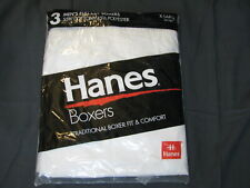 NEW NOS VTG 1996 Hanes Full Cut PACK 3 BOXER SHORTS UNDERWEAR Traditional Fit XL