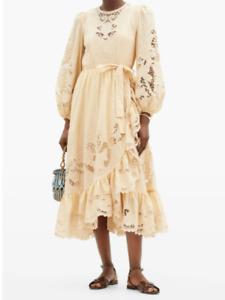 ZIMMERMANN Lulu balloon-sleeve broderie-anglaise cotton dress size 2 (US 8)