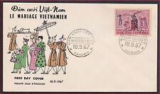 1er Jour VIETNAM du SUD N°318 Fête du Têt du 18-9-1967, South Vietnam FDC #315