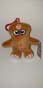 Gingerbread Cookie Plush Backpack Clip, Gund, New with Tags