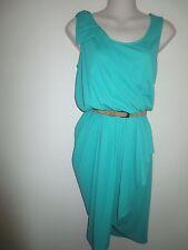 DOO RI IMPULSE NWT $149.00 Grecian-Style Draped Turquoise Faux Wrap Dress,  S