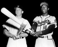 Mickey Mantle  Hank Aaron Photo 8X10 - Yankees Braves   Buy Any 2 Get 1 FREE