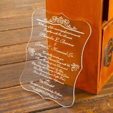 50-Personalized Engraved Acrylic Wedding Invitations Cards,Wish Well