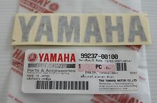 100% GENUINE YAMAHA 100mm X 23mm METALLIC DARK GREY DECAL STICKER BADGE LOGO
