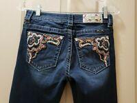 Miss Me Sequins Pocket Boot Cut Denim Jean Size 26X33