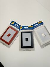 Led Wall Switch Light! value pack of Three Multi Color! Red-Black-White!