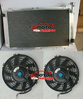 3 ROW Aluminum Radiator+FANS For Nissan GQ PATROL Y60 4.2L TB42S TB42E Petrol MT