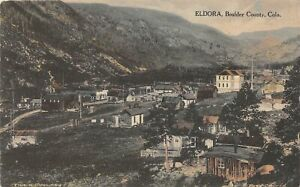 H72/ Eldora Colorado Postcard c1910 Boulder County Birdseye View Homes 110