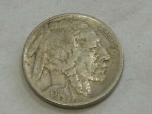 1917 D buffalo Indianhead nickel five cent coin
