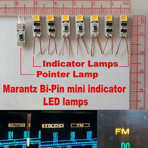 8x Bi-Pin Vintage Marantz Indicator LED Lamps AC8V Warm White 11x4.5mm