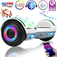Bluetooth Hoverboard LED Self Balance Electric Scooter without Bag White+Gray