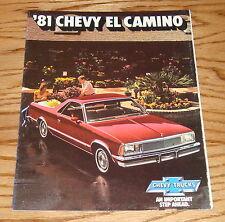 Original 1981 Chevrolet El Camino Sales Brochure 81 Chevy