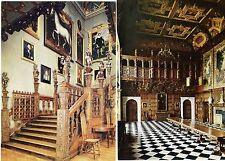 2 Uncirculated Postcards Hatfield House Hall & Staircase in Hatfield England