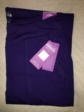 New Purple Label Yoga Tori 9133 TruGrape Scrub Pants Healing Hands 5 Pocket Xl