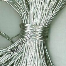 3 YARDS SILVER ELASTIC METALLIC CORD Cards, Scrapbooks