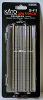 """Kato 20411 N Gauge Double Track Straight Viaduct 7-3/4"""" 186mm 2pcs. WS186V. New"""