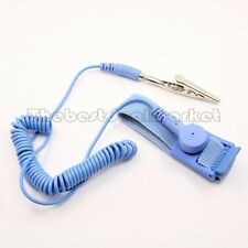 NEW Anti Static Antistatic ESD Adjustable Wrist Strap Band Blue FastShipping USA