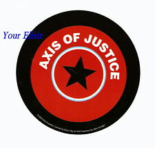 AXIS OF JUSTICE Star Round Amp Board Bike Car Sticker