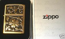 Zippo Gold Floral Flush Emblem Lighter Model 20903 NEW