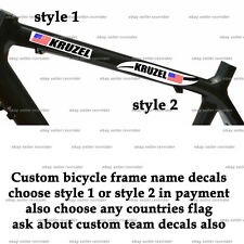 mountain bike or road bicycle frame custom name sticker