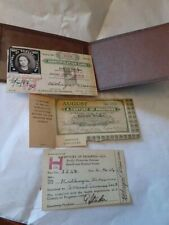 CHICAGO WORLDS FAIR ANTIQUE EMPLOYEE ID CARD MONTH PASS HOLDER SET