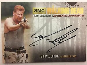 Walking Dead Season 4 PART 2 - GOLD Michael Cudlitz - Abraham AUTOGRAPH MC2
