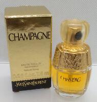 VTG Mini Eau Toilette ✿ CHAMPAGNE ~ YVES SAINT LAURENT ✿ Perfume Parfum (7,5ml.)