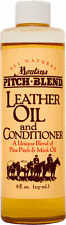 Montana Pitch Blend Leather Oil & Conditioner, 8 oz Bottle, All Natural Product!