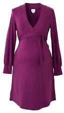 Tie-band Maternity Dress - Purple maternity dress - XL / UK16 - Boob Maternity