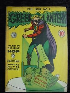 GREEN LANTERN #8 HOP HARRIGAN BEGINS DC COMICS GOLDEN AGE 1943