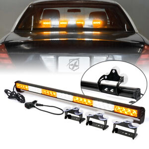 Amber White Mix 31 Inch LED Strobe Light Bar Emergency Warning/Traffic Advisor