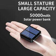 50000mAh Solar Power Bank Mini Portable External Battery Phone Chargers 3 USB