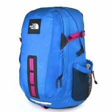 NORTH FACE Hot Shot Backpack Acoustic Blue/Festival Pink T93KYJFF4-OS Schoolbag