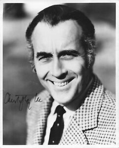 Christopher Lee - Signed Autograph