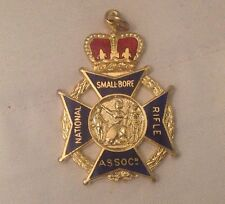 ** Vintage ~ Enamel ~ National Smallbore Rifle Association Medal & 2 Others **