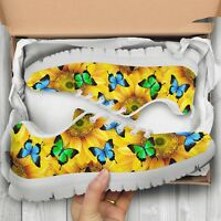 Sunflower Butterfly Women's And Children's Sneakers - Custom Design Shoes