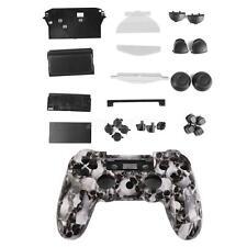 Weiß Schutz Gehäuse Case mit Button für PlayStation4 PS4 Controller