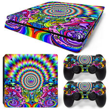 PS4 Slim Skin Console & 2 Controllers Neon Portal Decal Vinyl Wrap