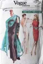 Vintage Very Easy Vogue Pattern 7389, Evening Dres & Stole | Sz 6 8 10 Uncut