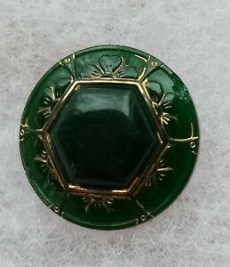 bouton ancien en verre de 2 cm