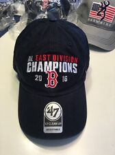 Boston Red Sox 2016 AL East Champions NEW Mens Hat Cap One Size Adjustable Navy